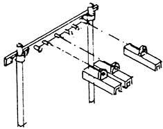 N Rollenhalter 6-fach (6 St.), 6 Querträger und 18 einzelne Schutzhauben mit Pfosten, Bs. - Weinert 6964  | günstig bestellen bei Modelleisenbahn Center  MCS Vertriebs GmbH