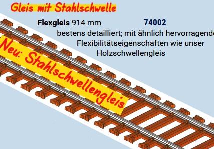 MG Code 75 Flexgleis mit Stahlschwellen, L=92cm - Weinert MeinGleis 74002 - Vorteilspackung mit 12 Stück | günstig bestellen bei Modelleisenbahn Center  MCS Vertriebs GmbH