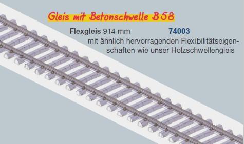 MG Code 75 Flexgleis mit Betonschwellen, L=92cm - Weinert MeinGleis 74003 - Vorteilspackung mit 12 Stück | günstig bestellen bei Modelleisenbahn Center  MCS Vertriebs GmbH
