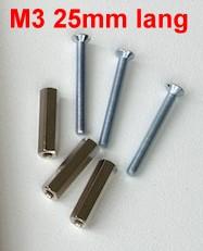 Gewindebolzen mit Schrauben M3, L=25mm, je 10 Stück-Weinert 74304  | günstig bestellen bei Modelleisenbahn Center  MCS Vertriebs GmbH