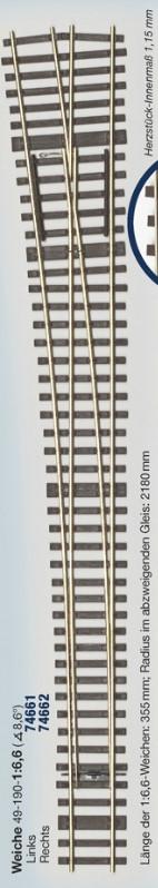 MG Code 75 Schwellenrost für Weiche links 8,6° - Weinert MeinGleis  | günstig bestellen bei Modelleisenbahn Center  MCS Vertriebs GmbH