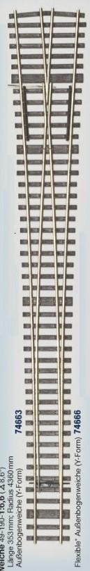 MG Code 75 Schwellenrost für Weiche Y 8,6° - Weinert MeinGleis  | günstig bestellen bei Modelleisenbahn Center  MCS Vertriebs GmbH
