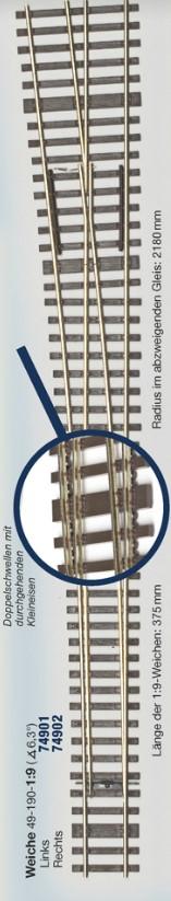 MG Code 75 Schwellenrost für Weiche links 6,3° - Weinert MeinGleis  | günstig bestellen bei Modelleisenbahn Center  MCS Vertriebs GmbH
