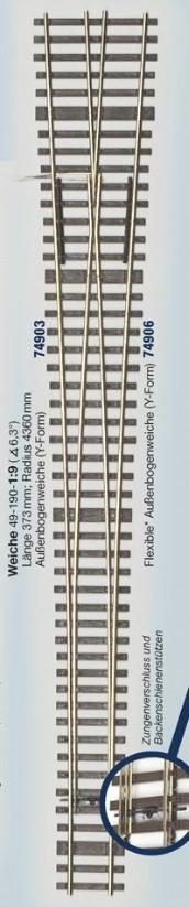 MG Code 75 Schwellenrost für Weiche Y 6,3° - Weinert MeinGleis  | günstig bestellen bei Modelleisenbahn Center  MCS Vertriebs GmbH