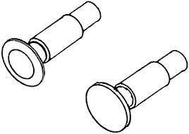 1:87 Federpuffer je 2 x flach und gewölbt, d=5,2mm, ohne Sockelplatte, - Weinert 86001    günstig bestellen bei Modelleisenbahn Center  MCS Vertriebs GmbH