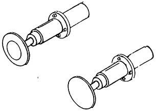 1:87 Stangenpuffer für Länderbahn Loks d=5,2mm, runder Flansch, brüniert, gefedert, 4 Stück - Weinert 86041  | günstig bestellen bei Modelleisenbahn Center  MCS Vertriebs GmbH