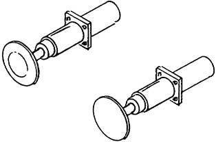 1:87 Stangenpuffer für Länderbahn Loks d=5,2mm, rechteckiger Flansch, gefedert, 4 Stück - Weinert 86061  | günstig bestellen bei Modelleisenbahn Center  MCS Vertriebs GmbH