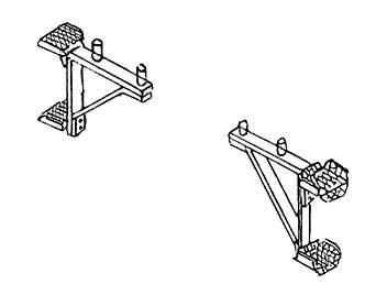 1:87 Aufstiegstritte für Puffer- bohlen von Einheitslokomotiven z.B. BR 64, BR 01, 2 Stück - Weinert 8703  | günstig bestellen bei Modelleisenbahn Center  MCS Vertriebs GmbH
