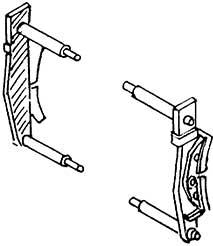 1:87 Bremsbacken mit einem Brems- eisen für Rad d=13-15mm 4 Paar - Weinert 8931  | günstig bestellen bei Modelleisenbahn Center  MCS Vertriebs GmbH