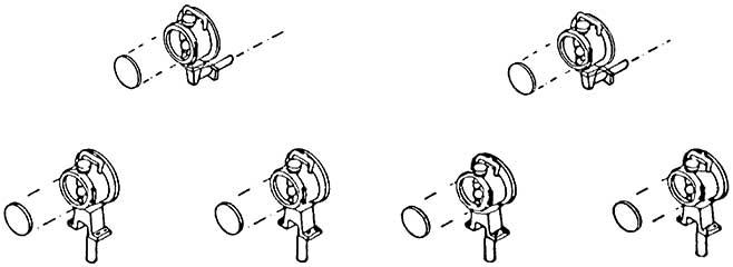 1:87 Laternen, DB-Einheitsaus- führung, 2 x Spitzenlicht, 4 x für Pufferbohle, 6 Stück - Weinert 9010  | günstig bestellen bei Modelleisenbahn Center  MCS Vertriebs GmbH