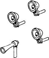1:87 H0e-H0m Laternen (6) und Signalhorn (1) für Schmalspurtriebwagen - Weinert 9016  | günstig bestellen bei Modelleisenbahn Center  MCS Vertriebs GmbH