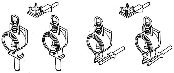 1:87 Bayerische Laternen (4 Stück) und 2 kurze Spitzenlichthalter- Weinert 9037  | günstig bestellen bei Modelleisenbahn Center  MCS Vertriebs GmbH