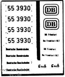 1:87 Beschriftung BR 55 3930 1 Satz Neusilber geätzt- Weinert 9125  | günstig bestellen bei Modelleisenbahn Center  MCS Vertriebs GmbH