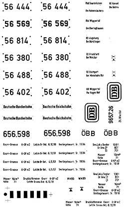 1:87 Beschriftung BR 56 1 Satz, Schiebebilder- Weinert 9131  | günstig bestellen bei Modelleisenbahn Center  MCS Vertriebs GmbH