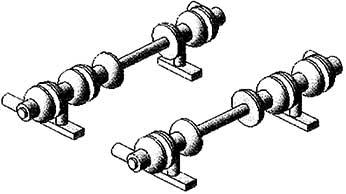 1:87 Glockenisolatoren für Stromabnehmer SBS9 2 Paar - Weinert 95505  | günstig bestellen bei Modelleisenbahn Center  MCS Vertriebs GmbH