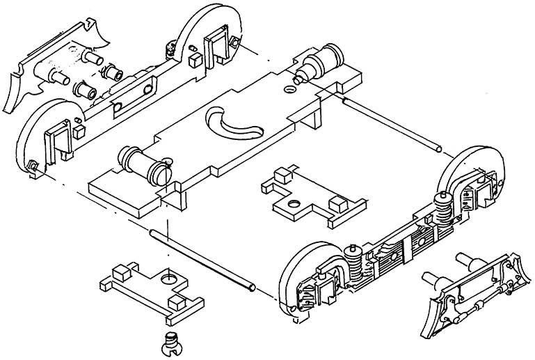 1:87 Vorlaufgestell P8 oder BR38 - Weinert 96964  | günstig bestellen bei Modelleisenbahn Center  MCS Vertriebs GmbH