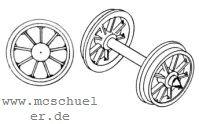 Brawa - RP25 Speichen-Radsätze d=11,5mm - Weinert 9716  - 2 Stück mit Spitzenweite 23,0mm | günstig bestellen bei Modelleisenbahn Center  MCS Vertriebs GmbH
