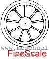 Brawa - RP25 FineScale Speichen-Radsätze d=11,5mm - Weinert  - 2 Stück mit Spitzenweite 23,0mm | günstig bestellen bei Modelleisenbahn Center  MCS Vertriebs GmbH