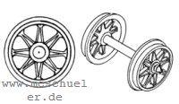 Brawa - RP25 Speichen-Radsätze d=11,5mm - Weinert 9720  - 2 Stück mit Spitzenweite 23,0mm | günstig bestellen bei Modelleisenbahn Center  MCS Vertriebs GmbH