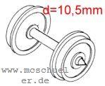 Fleischmann - RP25 Scheiben-Radsätze d=10,5mm - Weinert 9733  - 2 Stück mit Spitzenweite 24,0mm | günstig bestellen bei Modelleisenbahn Center  MCS Vertriebs GmbH
