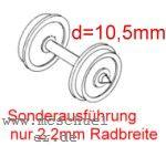 Fleischmann RP25 FineScale Scheiben-Radsätze d=10,5mm - Weinert 2 Stück mit Spitzenweite 25,0mm | günstig bestellen bei Modelleisenbahn Center  MCS Vertriebs GmbH