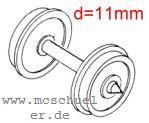 Ade - RP25 Scheiben-Radsätze d=11,0mm - Weinert 9740  - 2 Stück mit Spitzenweite 24,5mm | günstig bestellen bei Modelleisenbahn Center  MCS Vertriebs GmbH