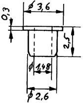 Isolierbuchse, d=1,48mm für Räder-Weinert 9886    günstig bestellen bei Modelleisenbahn Center  MCS Vertriebs GmbH