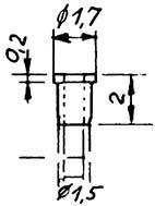 Isolierbuchse, d=0,98mm für Räder-Weinert 9888    günstig bestellen bei Modelleisenbahn Center  MCS Vertriebs GmbH