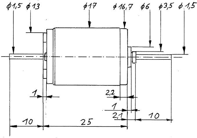 Faulhaber-Motor 1724 gewuchtet-Weinert 9908  | günstig bestellen bei Modelleisenbahn Center  MCS Vertriebs GmbH
