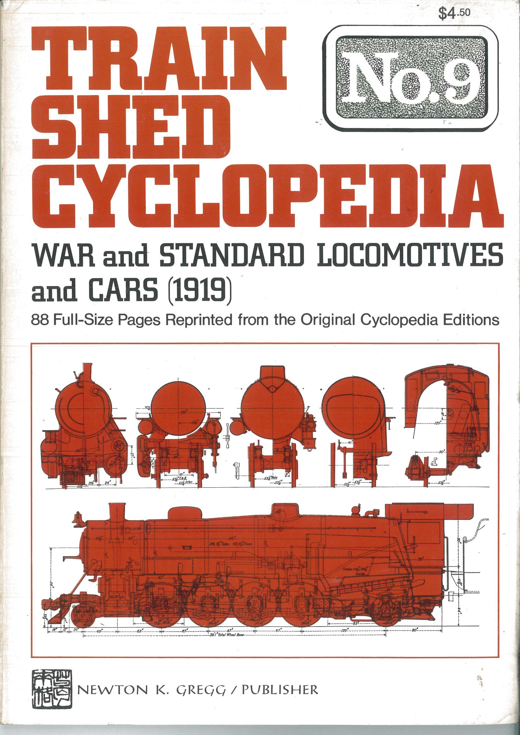Train Shed Cyclopedia No. 9: War & Standard Locomotives and Cars (1919)  | günstig bestellen bei Modelleisenbahn Center  MCS Vertriebs GmbH