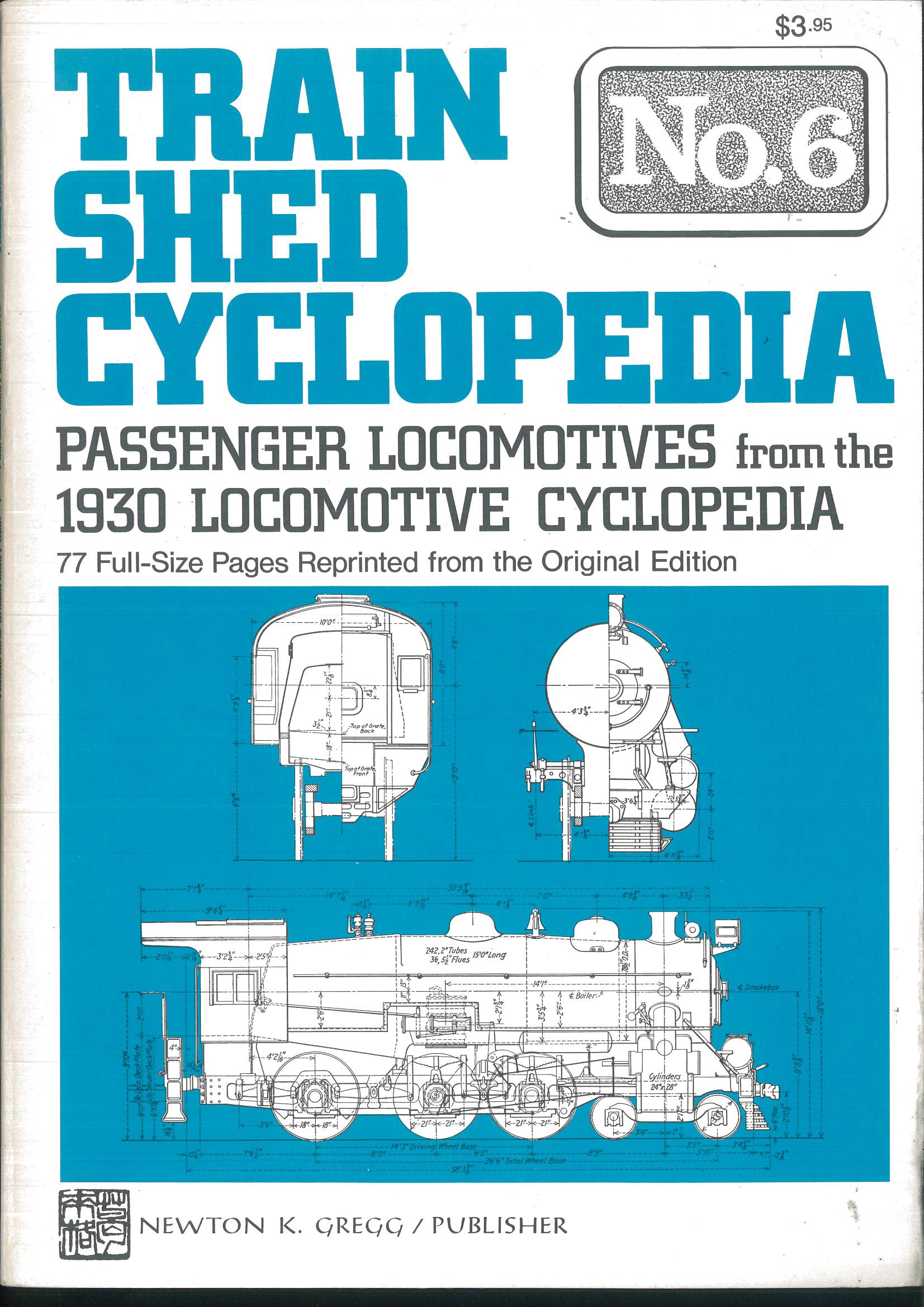 Train Shed Cyclopedia No. 6 -Passenger Locomotives from the 1930 Locomotive Cyclopedia  | günstig bestellen bei Modelleisenbahn Center  MCS Vertriebs GmbH