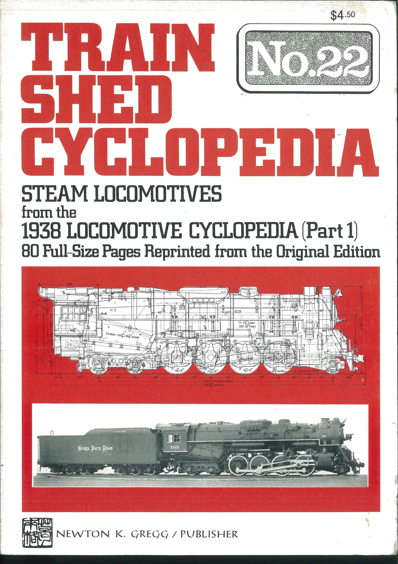 Train Shed Cyclopedia No. 22 - Steam Locomotives from the 1938 Locomotive Cyclopedia (Part 1)  | günstig bestellen bei Modelleisenbahn Center  MCS Vertriebs GmbH