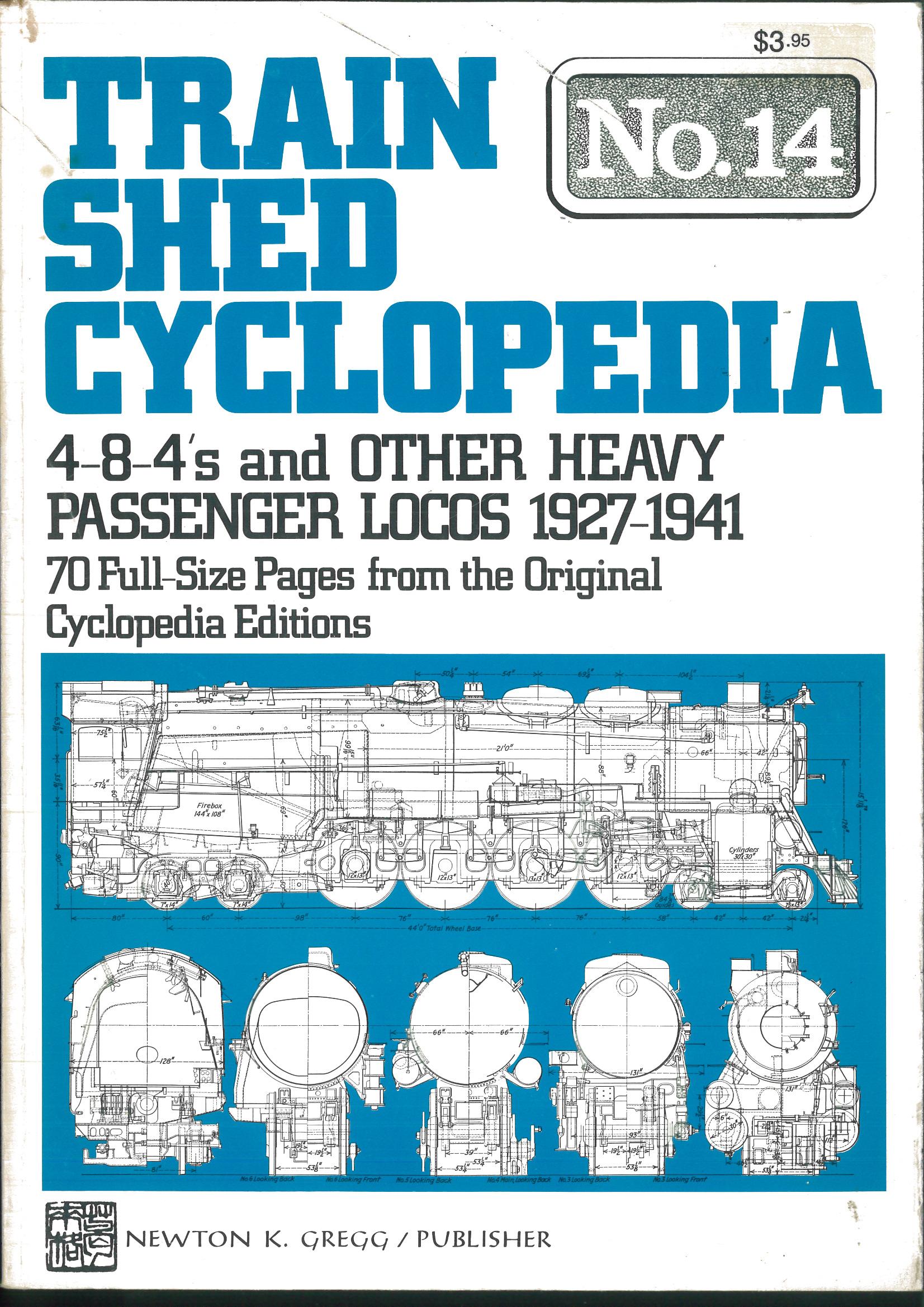 Train Shed Cyclopedia No. 14 - 4-8-4s and other heavy Passenger Locos 1927-1941  | günstig bestellen bei Modelleisenbahn Center  MCS Vertriebs GmbH