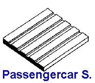 Platte V-Rillen 0,5 x 150 x 300mm , Spur S Passenger Car Siding-1 Stück - Evergreen KS  | günstig bestellen bei Modelleisenbahn Center  MCS Vertriebs GmbH