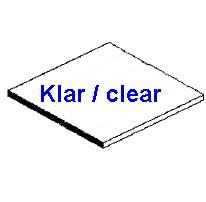 Platte klar 0,13 x 150 x 300mm - 3 Stück  - Evergreen KS  | günstig bestellen bei Modelleisenbahn Center  MCS Vertriebs GmbH