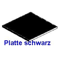 Platte schwarz 1,00 x 150 x 300mm - 2 Stück  - Evergreen KS  | günstig bestellen bei Modelleisenbahn Center  MCS Vertriebs GmbH
