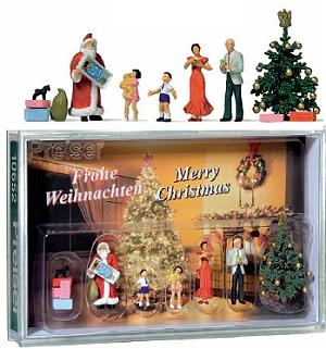 1:87 Frohe Weihnachten - Weihnachtsszene mit Nikolaus, Tannenbaum und Familie - Preiser  - in attraktiver Geschenkbox | günstig bestellen bei Modelleisenbahn Center  MCS Vertriebs GmbH