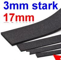 Schalldämmung Streifen 3mm stark, 17mm breit (Halb-H0), L=1000mm - Weinert 74231  | günstig bestellen bei Modelleisenbahn Center  MCS Vertriebs GmbH
