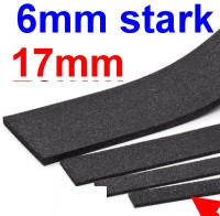 Schalldämmung Streifen 6mm stark, 17mm breit (Halb-H0), L=1000mm-Weinert 74261  | günstig bestellen bei Modelleisenbahn Center  MCS Vertriebs GmbH