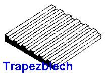Blechdach mit stehender Naht 1,00 x 150 x 300mm -, mit Raster 3,20mm - - 1 Stück - Evergreen KS  | günstig bestellen bei Modelleisenbahn Center  MCS Vertriebs GmbH