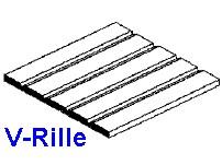 Platte V-Rille 0,5 x 150 x 300mm, mit Raster 0,64mm - 1 Stück - Evergreen KS  | günstig bestellen bei Modelleisenbahn Center  MCS Vertriebs GmbH
