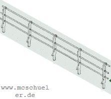 1:87 Geländer in Stangenform für Ufermauern, 70cm lang - Weinert  | günstig bestellen bei Modelleisenbahn Center  MCS Vertriebs GmbH