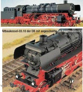 H0 DB BR 03.10 Altbau-Kessel u. angeschnittene Rauchkammer - Weinert Ausführung mit NEM-Radsätzen | günstig bestellen bei Modelleisenbahn Center  MCS Vertriebs GmbH