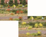 Blumenbüschel gelb und rot blühend, ca. 6mm hoch - Heki Art.Nr.346-1804