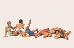 1:87 Badende, liegend und sitzend - Merten Art.Nr.546-H00954
