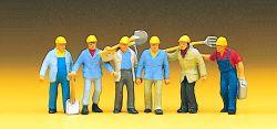 1:87 Gleisbauarbeiter DB mit Helmen- Preiser 10033 Art.Nr.663-10033