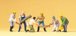 1:87 Waldarbeiter mit Sägen und Äxten- Preiser 10042 Art.Nr.663-10042