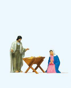 1:87 Krippe: Maria und Josef mit Krippe - Preiser 29091 Art.Nr.663-29091