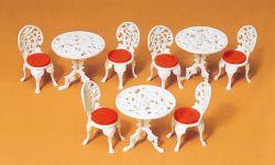 1:22,5 Tische, Stühle, Bausatz - Preiser 45209 Art.Nr.663-45209