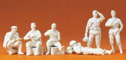 1:35 EDW Infanterie, rastend Bausatz, 6 St., unbemalt- Preiser 64000 Art.Nr.663-64000
